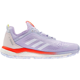 adidas TERREX Agravic Flow Trail Running Shoes Women purple tint/crystal white/solar red